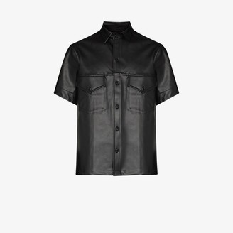 X Homecoming faux leather shirt