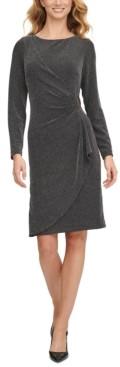 DKNY Ruched D-Buckle Sheath Dress