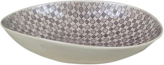 Wonki Ware - Large Etosha Bowl In Aubergine Mixed Patterns - ceramic | aubergine - Aubergine