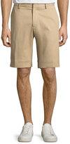 Moncler Track-Stripe Twill Shorts, Khaki