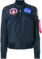 Alpha Industries (アルファ インダストリーズ) - Alpha Industries NASA patches bomber jacket