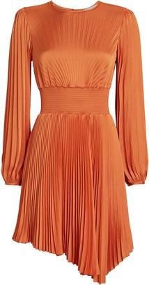 A.L.C. Behati Pleated Asymmetric Dress