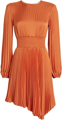 A.L.C. Behati Pleated Asymmetric Dress