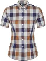 Aquascutum London Jade Short Sleeve Club Check Shirt