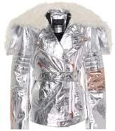 Proenza Schouler Metallic leather biker jacket