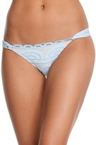 Pilyq Pebble Blue Lace Fanned Teeny Bikini Bottom 8158714