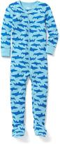 Old Navy Shark-Print One-Piece Sleeper for Toddler & Baby