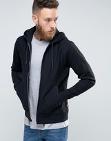 Paul Smith PS by Hoodie With Zip Through In Regular Fit Black