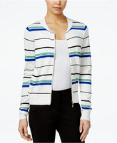 XOXO Juniors' Striped Bomber Sweater Jacket