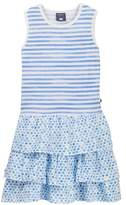 Toobydoo Jade Watercolor Stripe & Dot Ruffle Dress (Toddler, Little Girls, & Big Girls)