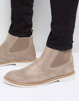 Tommy Hilfiger Metro Suede Brogue Chelsea Boots