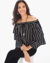 Chico's Striped Off-the-Shoulder Top