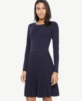 Ann Taylor Tall Shimmer Pleated Sweater Dress