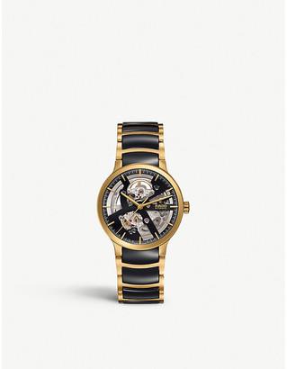 Rado R30180162 Centrix gold and ceramic open heart watch