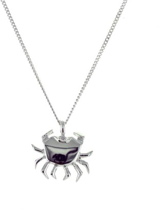 Origami Jewellery Mini Crab Necklace Sterling Silver