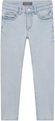 DL1961 Girl's Chloe Light-Wash Denim Skinny Jeans, Size 2-6