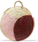Vanessa Seward Dinard Painted Straw Tote - Pink