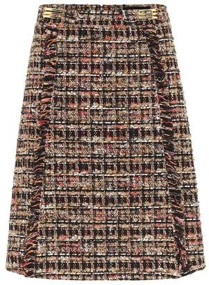 Etro Cotton-blend tweed skirt