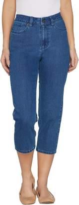 Denim & Co. Petite Perfect Denim Crop Length Jeans
