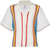 Rosie Assoulin striped boxy shirt - women - Polyester/Viscose - M