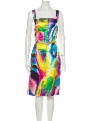 Dolce & Gabbana Silk Midi Length Dress w/ Tags Yellow