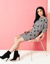 Yumi Cat Print Tunic Dress