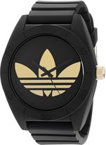adidas Men's ADH2712 Santiago Gold Logo Watch with Silicone Band