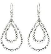 Andrea Fohrman Double Rose Cut Diamond Teardrop Earrings - White Gold