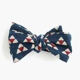 J.Crew KirikoTM bow tie in navy print