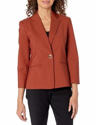 Kasper Women's Cotton Stretch Toggle Closure Jacket