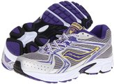 Saucony Girls' Cohesion 6 LTT, Silver/Purple/Yellow-6 Youth