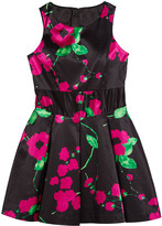 Milly Painted Floral Scoop-Neck Sleeveless Dress, Size 7-16