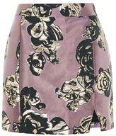Petite jacquard pelmet mini skirt