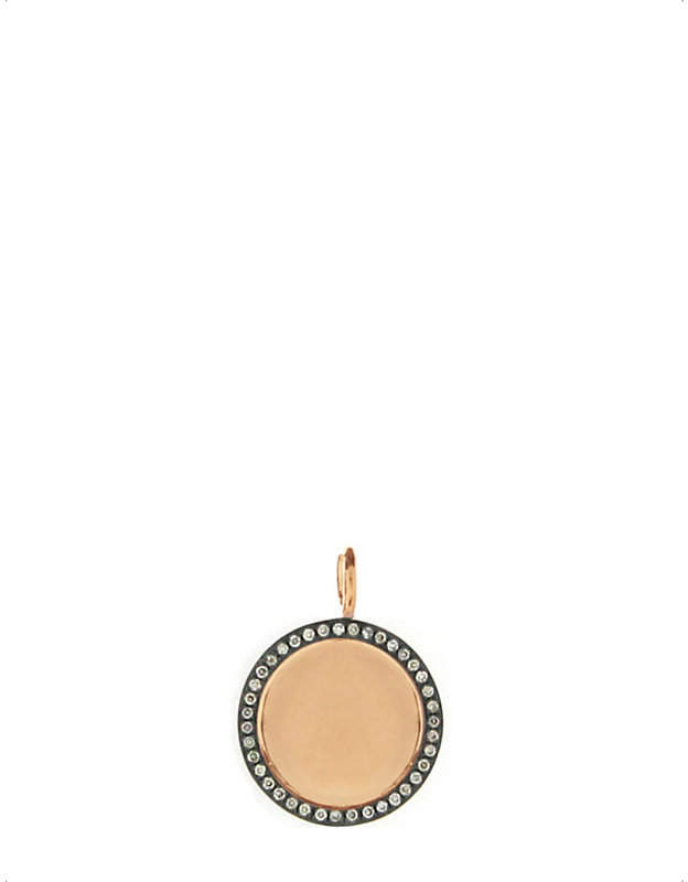 Rosegold Annoushka Mythology 18ct rose-gold and pavé-diamond pendant