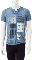 Buffalo David Bitton Blu BBM11231 Men's Short Sleeve T-shirt - Blue - M