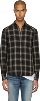 Saint Laurent Grey Check Shirt