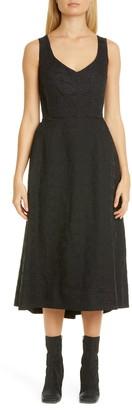 Comme des Garcons Logo Letters Jacquard Midi Dress