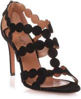 Alaia Black suede circle sandal