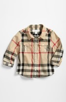 Burberry Infant Boy's Check Print Shirt