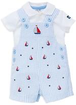 Little Me Boys' Sailboat Polo & Shortalls Set - Baby
