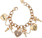 GUESS Gold-Tone Swag Charm Bracelet