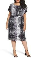 Sejour Plus Size Women's Dolman Sleeve Shift Dress