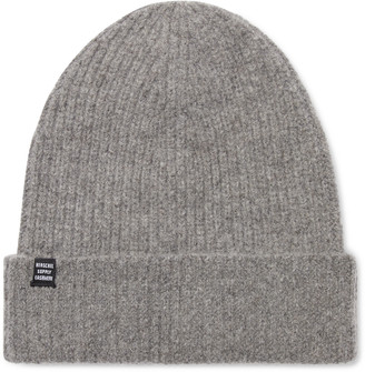 Herschel Cardiff Ribbed Cashmere and Wool-Blend Beanie - Men - Gray