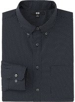 Uniqlo Men Extra Fine Cotton Broadcloth Printed Long Sleeve Shirt