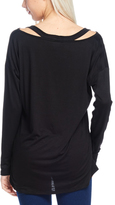 Bellino Black Cutout V-Neck Tunic