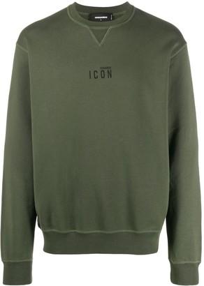 DSQUARED2 Icon print cotton sweatshirt