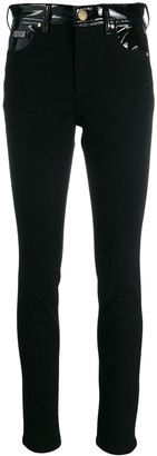 Versace contrast panel skinny trousers