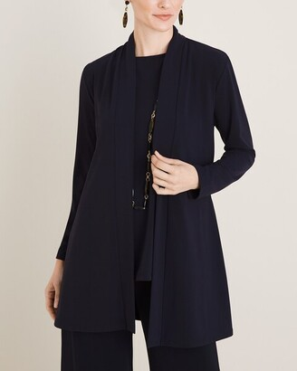 Easy Chic Drape-Front Jacket