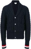 Thom Browne V-neck knitted cardigan - men - Wool - 1