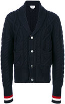 Thom Browne V-neck knitted cardigan